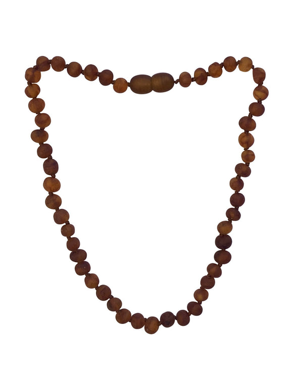 Raw Cognac Amber Natural Relief Baby Necklace