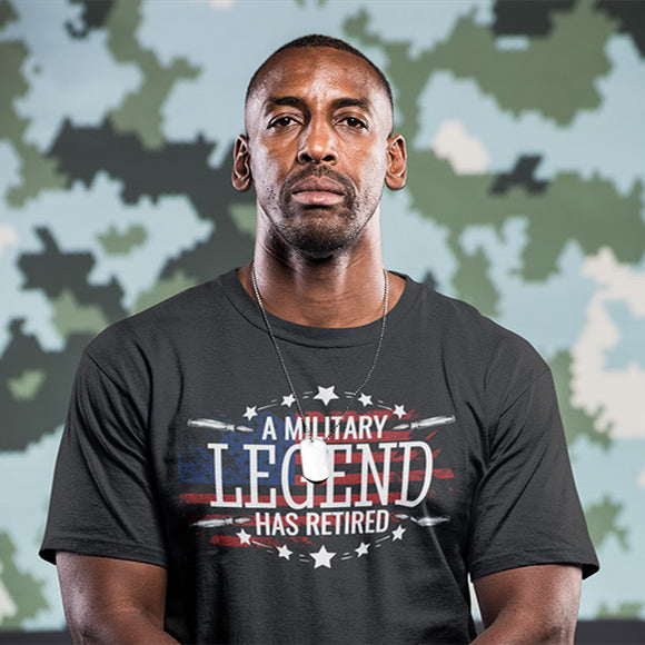 A Military Legend Just Retired Veteran T-Shirt - PrintMeLLC