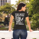 The Best Protection A Girl Can Have Is Courage And A Pitbull Women's T-Shirt - PrintMeLLC