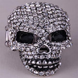 Crystal Skull Stretch Ring For Women - PrintMeLLC