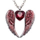 Guardian Angel Wing Heart Necklace For Women