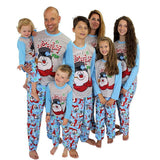 Happy Jolly Fun Snowman Family Matching Christmas Pajama Set Sleepwear