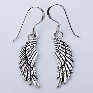 925 Sterling Silver Angel Wing Earrings For Women
