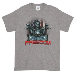 Ride On Freedom Patriotic Biker Men's T-Shirt - PrintMeLLC