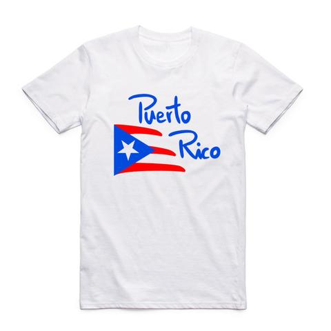 Shirt short sleeve O-Neck camisetas Puerto Rico flag printing