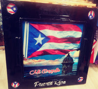 MI ORGULLO BORICUA HANDCRAFTED DOMINO TABLE