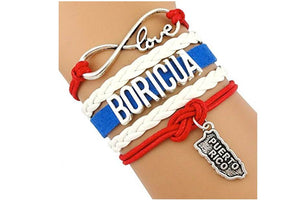 High Quality Love Puerto Rico Boricua Bracelet