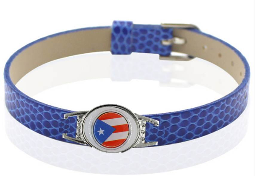 Puerto Rico flag Fashion Snake Wristband