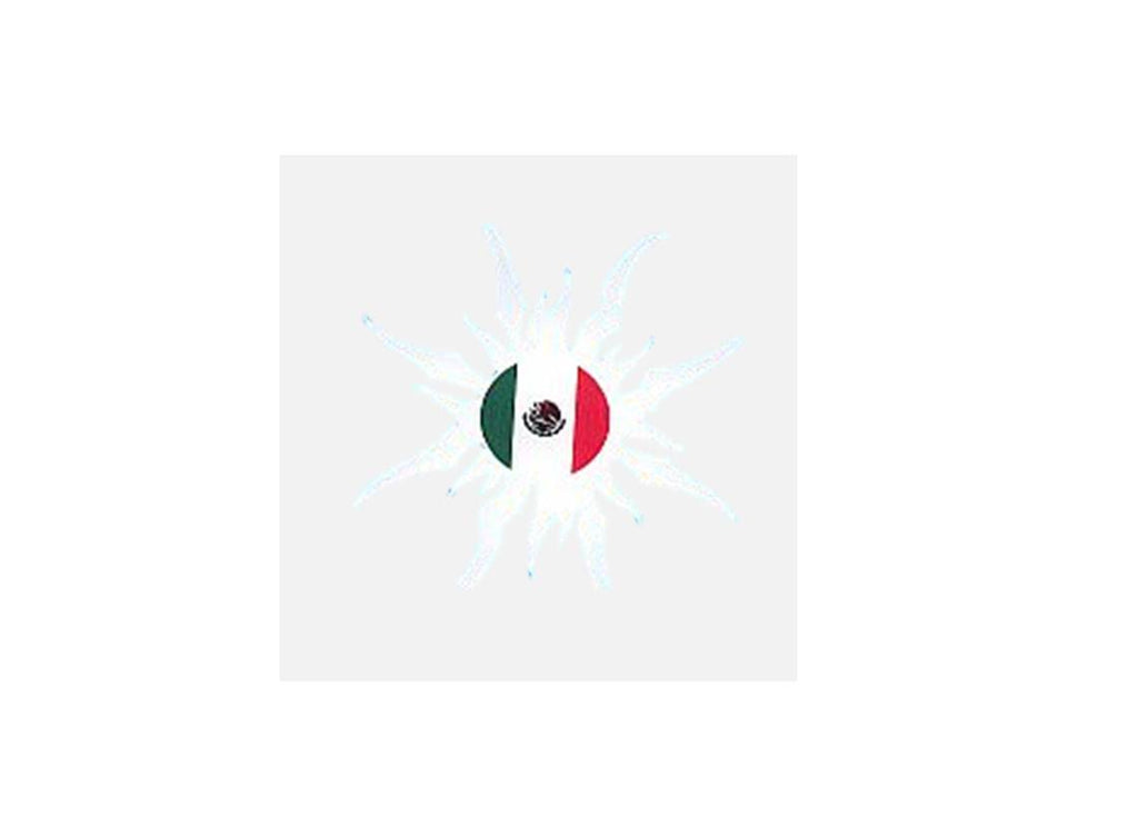 Mexico flag sun car sticker