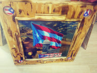 PUERTO RICO DOMINO TABLE GARITA AND FLAG UNDER SUNSHINE (FREE SHIPPIG)
