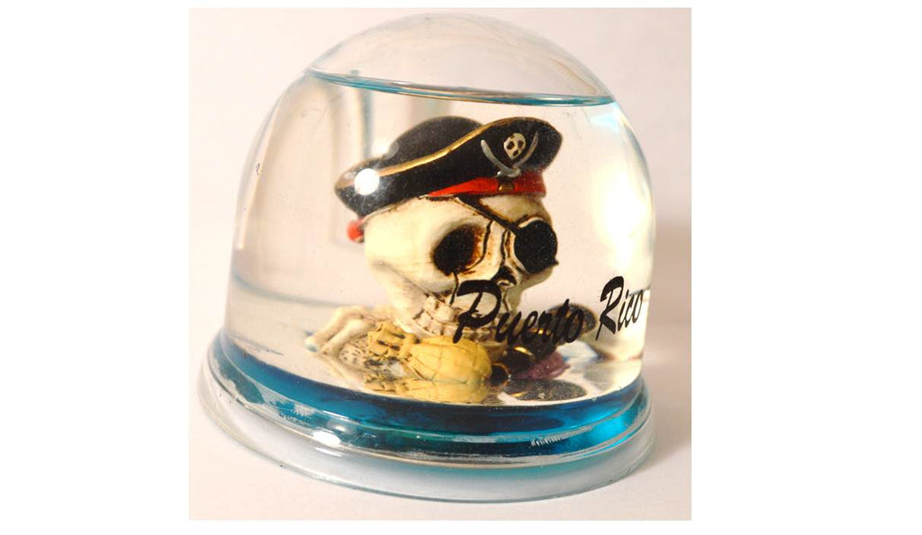 Decorative pirate fishbowl Puerto Rico Water-Filled and pen holder souvenir