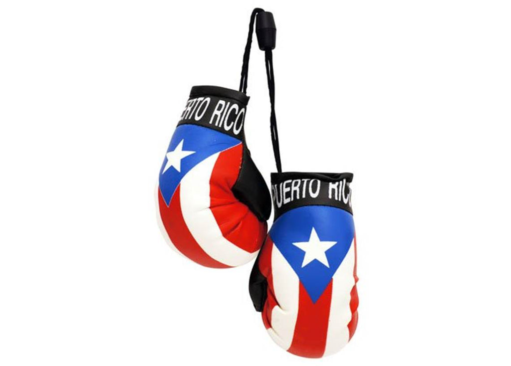 Puerto Rico Flag Hanging Boxing Gloves