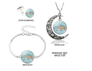 Puerto Rico Map 3 pieces Jewelry Set