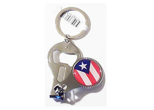 Puerto Rico Nail Clipper Keychain and Bottle Opener