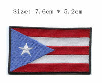 Puerto Rico iron on embroidery flag patch (+VIDEO TUTORIAL)