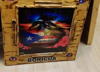Exclusive Domino  Table Handcraft Boricua Sunset with Blag (FREE SHIPPING)