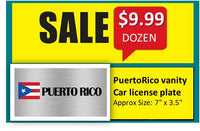 Month Special: PUERTO RICO CAR LICENSE PLATE a dozen for $9.99