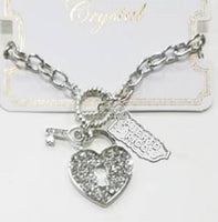 Bracelet Heart Key and Puerto Rico map