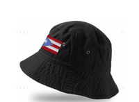 Fisherman Hat Foldable  Cap Bucket with Puerto Rico flag