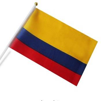 Wholesale Colombia Hand Waving National Flag (DOZEN)