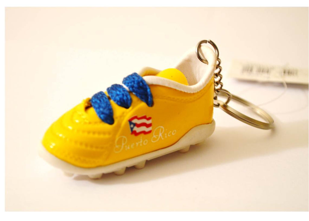 Puerto Rico sneaker yellow  shoe football keychain