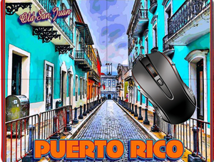 Puerto Rico Old San Juan vintage mouse pad