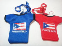 Country Logo Neck Pouch Puerto Rico Flag in red and blue