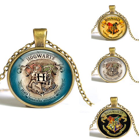 Hogwarts Fashion Retro Necklace Pendant Around Gem Time Sources