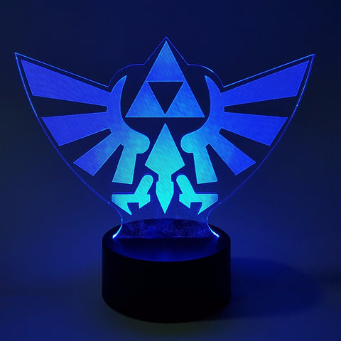 The Legend of Zelda Link Action Figure Visual Illusion LED Color Changing 3D Nightlight