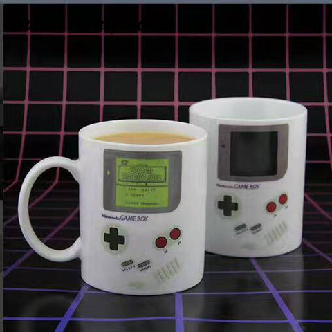 Retro Style Magic Color Changing & Heat Sensitive Creative Coffee Mug