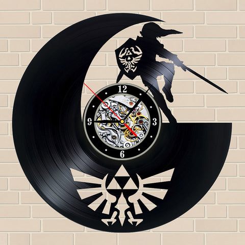 Handmade The Legend of Zelda Antique Vinyl Record Classic Wall Clock