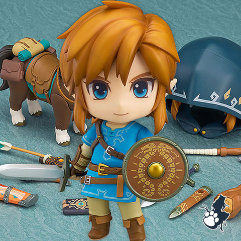 The Legend of Zelda Breath of the Wild Nendoroid Link Figure Deluxe Edition