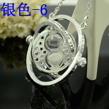 Time Turner Hourglass Necklace Anime Hogwarts Magic Wand Necklace