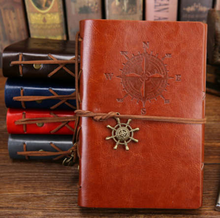 Creative Retro Themed Leather Cover Notebook Journal Traveler Book Diary