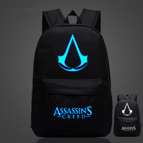 High Quality Lumious Assassins Creed Oxford Backpacks