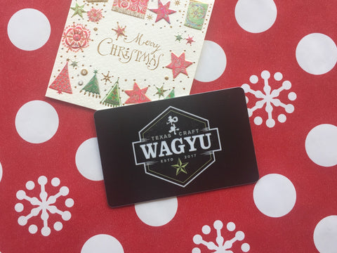 Texas Craft Wagyu gift card