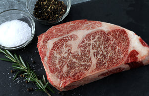 Texas Craft Wagyu dry aged Wagyu Ribeye. Craft steaks. Dallas delivery.