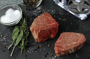 Texas Craft Wagyu dry aged Wagyu Filet Mignon (Tenderloin). Craft steaks. Dallas delivery.
