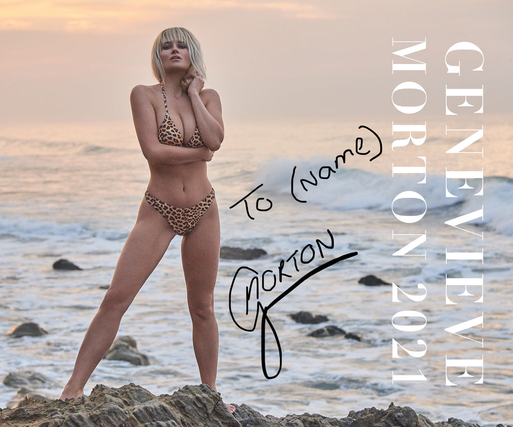 Signed and personalized 2021 Swimsuit Calendar