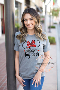 Best day ever tee, disney t shirt, minnie mouse shirt