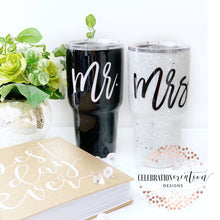 Mrs. and Mr cups, glitter tumblers, Holiday gifts, gift ideas, glitter cup, sports cup, wedding gifts, bridal gifts