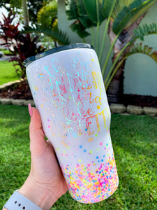 Throw kindess around like confetti, glitter tumbler, gifts for her
