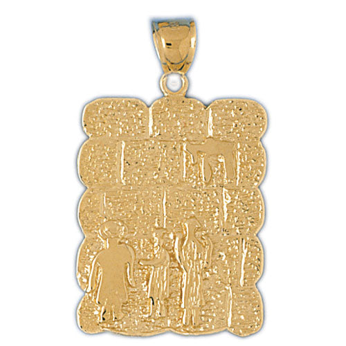 14K Gold Jewish Pendant Jewelry - Mitzvahland.com All your Judaica Needs!