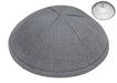 Grey Linen Kippah Kippot / Yarmulkes - Mitzvahland.com All your Judaica Needs!