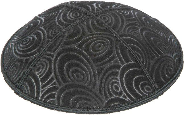 Circles Embossed Kippah Kippot / Yarmulkes - Mitzvahland.com All your Judaica Needs!