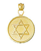 14K Gold Jewish Star of David Medallion Jewelry - Mitzvahland.com All your Judaica Needs!