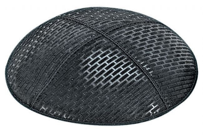 Brick Embossed Kippah Kippot / Yarmulkes - Mitzvahland.com All your Judaica Needs!