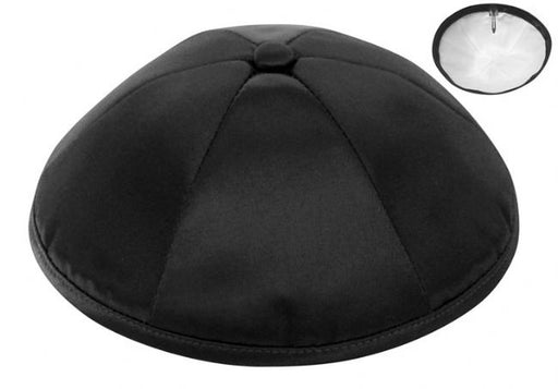 Black Deluxe Satin Kippah - Per Piece Kippot / Yarmulkes - Mitzvahland.com All your Judaica Needs!