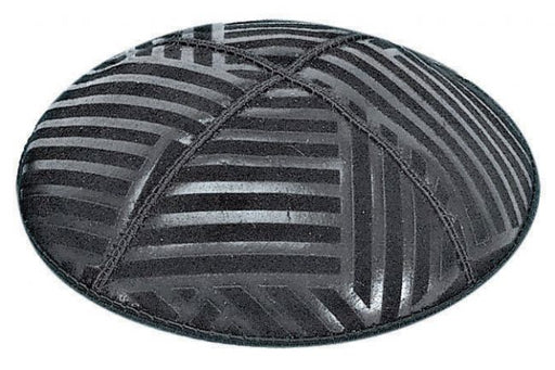 Angle Stripes Embossed Kippah Kippot / Yarmulkes - Mitzvahland.com All your Judaica Needs!