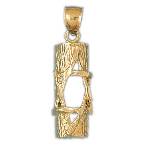 14K Gold Jewish Star of David Inscribed Mezuzah Pendant Jewelry - Mitzvahland.com All your Judaica Needs!